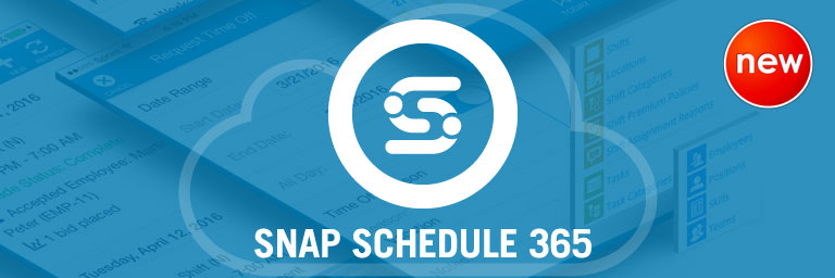 Snap Schedule 365 Online, cloudbased employee scheduling software