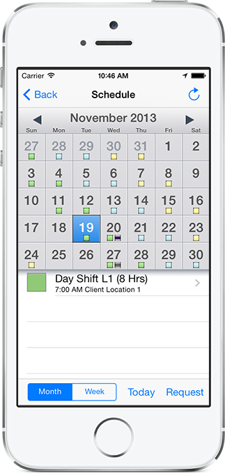 Snap Schedule for iPhone