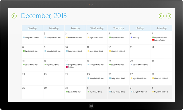 Employee scheduling Software for Windows PCs & Tablets | Snap ...