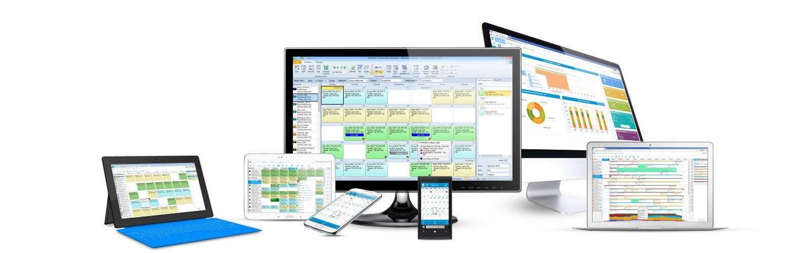 Shift scheduling software for mobile workforce